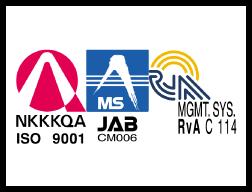 ISO 9001 マネジメントシステム登録証
